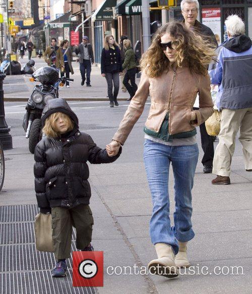Sarah Jessica Parker and her son James Wilke...