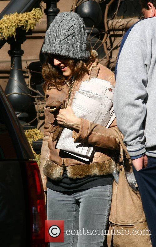 Sarah Jessica Parker leaving her house New York...