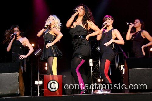 Girlband 'The Saturdays' performing live at Butlins Minehead,...