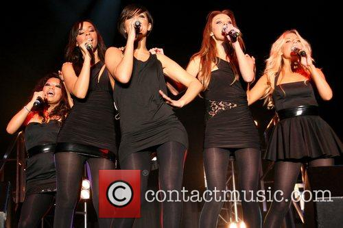 Girlband 'The Saturdays' performing live at Butlins