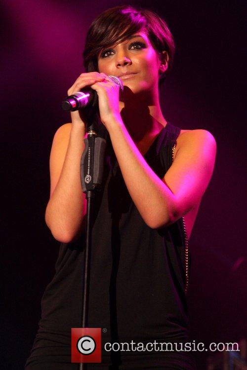 Frankie Sandford of girlband 'The Saturdays' performing live...