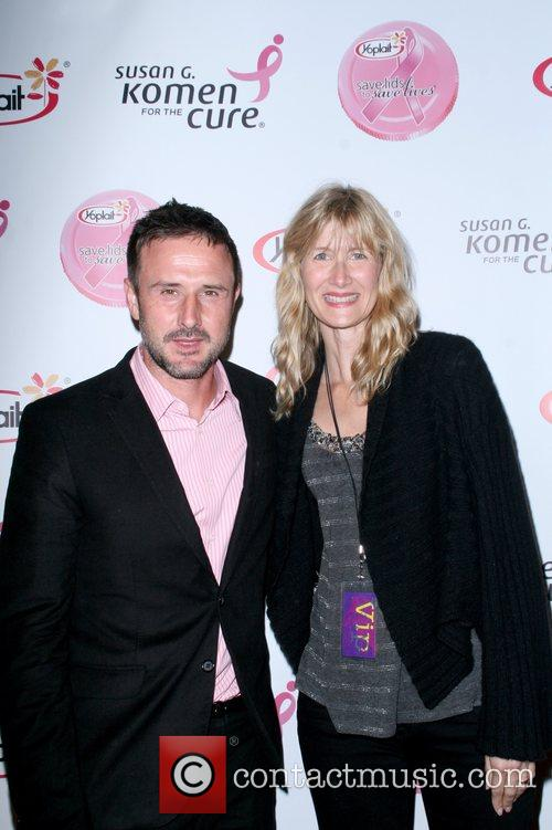 David Arquette and Laura Dern arrive at the...