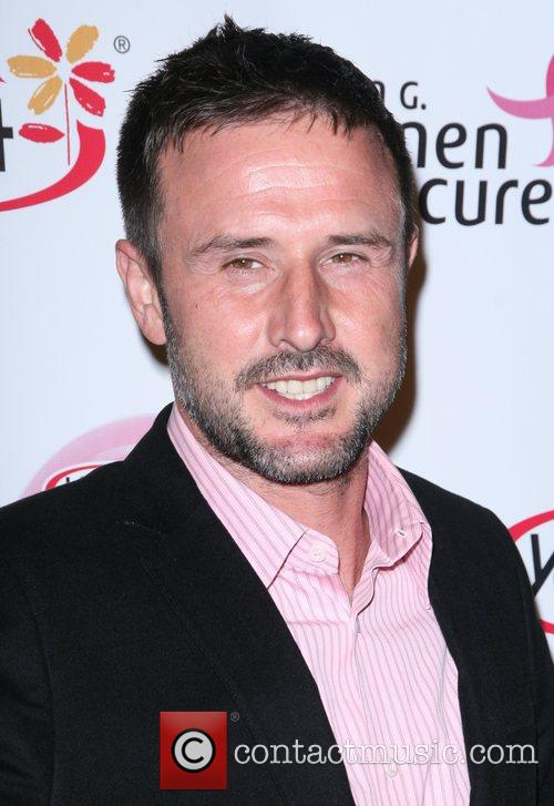 David Arquette arrives at the Saves Lives concert...