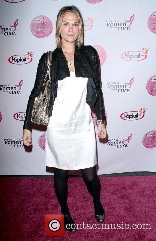 Molly Sims arrives at the Saves Lives concert...
