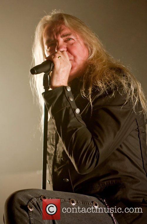 Biff Byford of Saxon  performs live on...