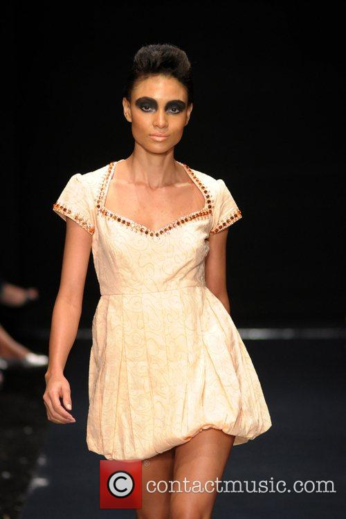 Model Saya fashion show during Funkshion Fashion week...