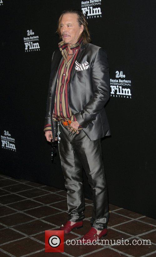 Mickey Rourke The 24th Santa Barbara International Film...