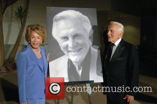 Kirk Douglas and wife Anne Buydens Ed Harris...