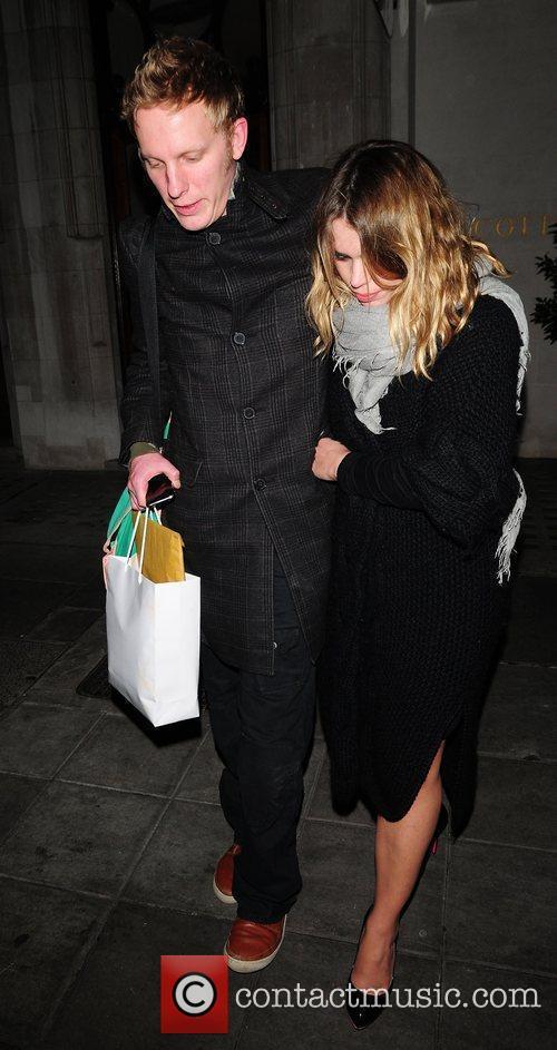 Billie Piper and Laurence Fox leaving Scott's restaurant...