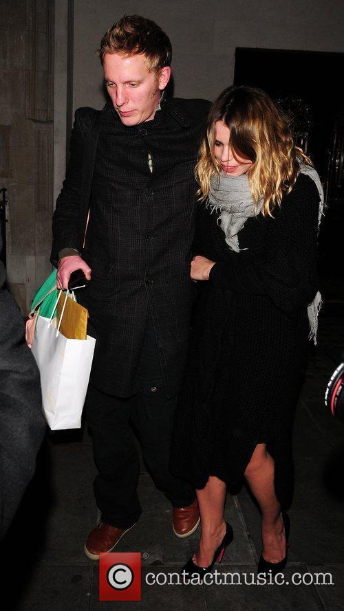 Billie Piper and Laurence Fox leaving Scott's restaurant