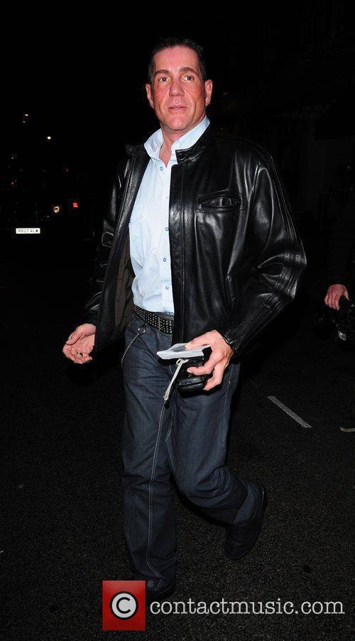 Dale Winton leaving Scott's restaurant London, England