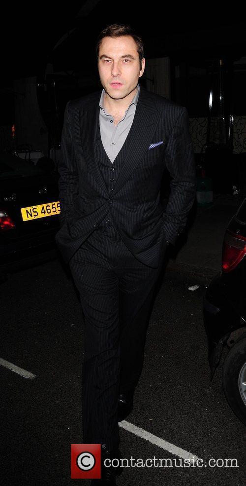 David Walliams leaving Scott's restaurant London, England