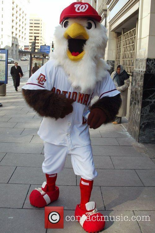 Washington Nationals unveil a new look for mascot...