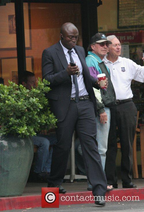 singer seal wearing a smart pinstriped suit 2189911