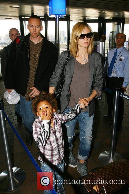 Heidi Klum and Her Son Henry Samuel 2