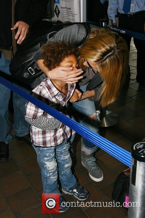 Heidi Klum and Her Son Henry Samuel 6