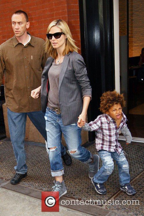 Heidi Klum and Her Son Henry Samuel 7