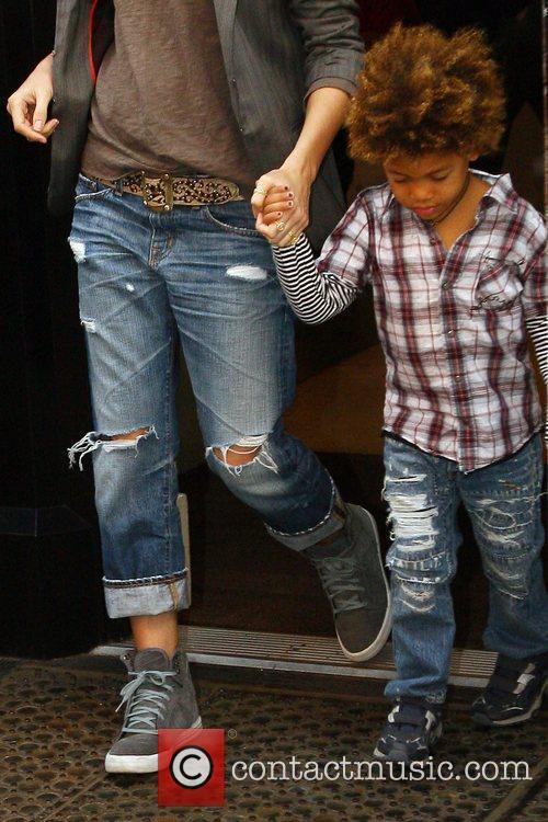 Heidi Klum and Her Son Henry Samuel 8