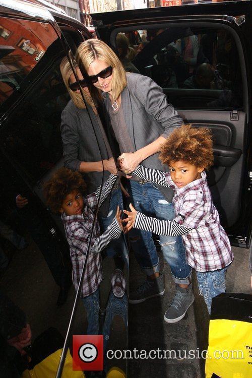 Heidi Klum and Her Son Henry Samuel 5