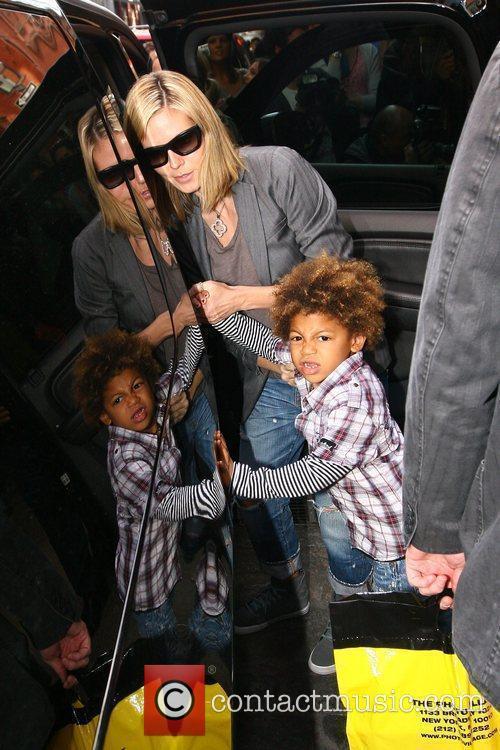 Heidi Klum and Her Son Henry Samuel 9