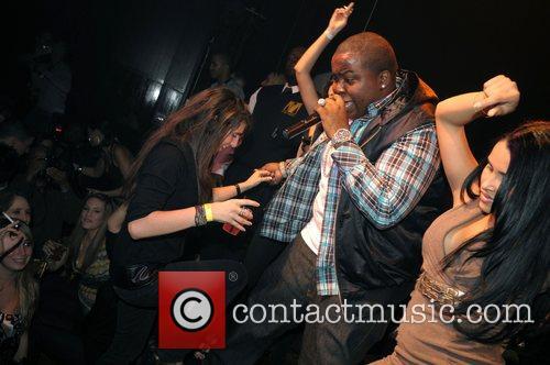 Sean Kingston  performing live at Club Mansion...