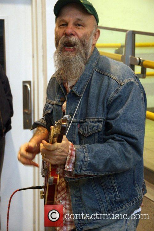 Seasick Steve busking at Earl's Court underground staion...