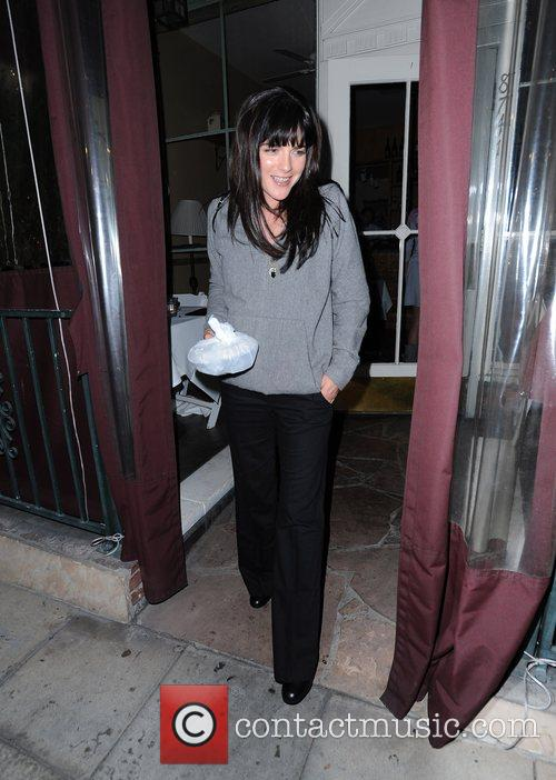 Selma Blair leaving Il Sole restaurant after having...