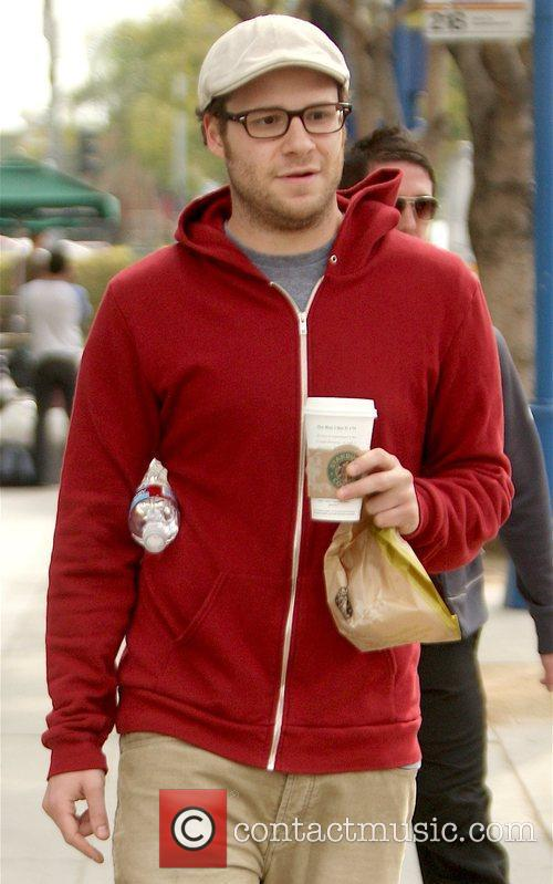 'Observe and Report' star leaving a Starbucks in...