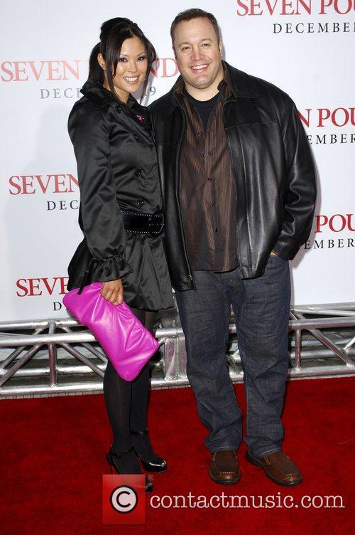Kevin James and wife Steffiana De La Cruz...