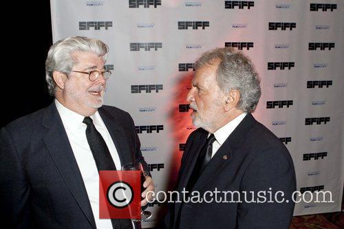 George Lucas and Sid Ganis