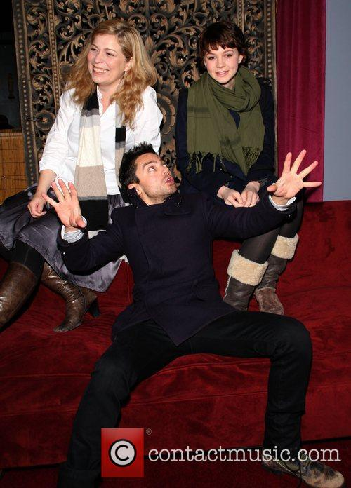 Lone Scherfig, Carey Mulligan and Dominic Cooper 2