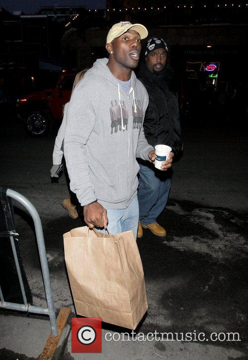 Terrell Owens  out and about at the...