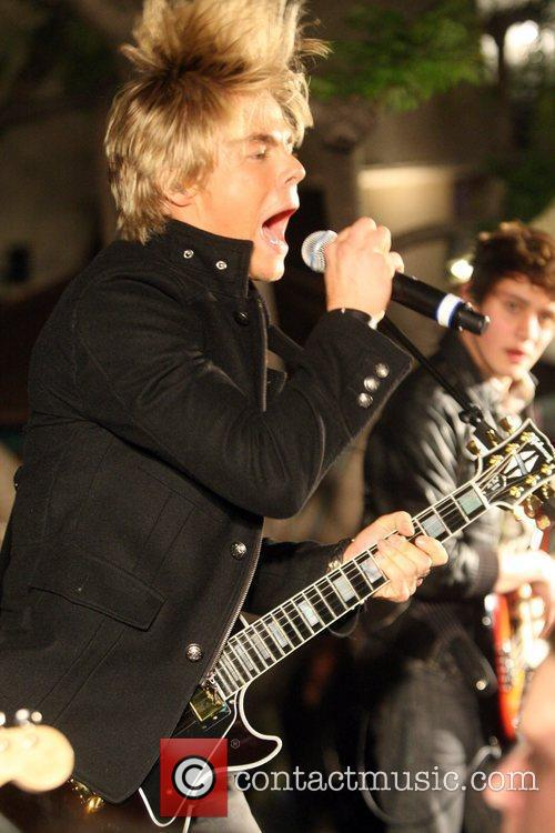 Dereck Hough from the Ballas Hough Band performing...