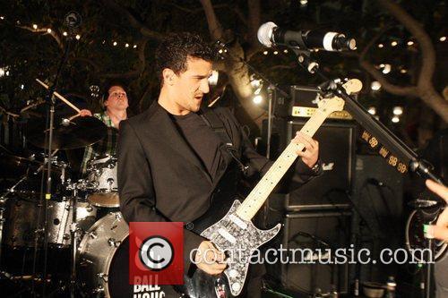 Mark Ballas from the Ballas Hough Band performing...