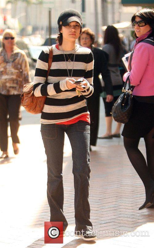 Shannyn Sossamon leaving a medical center in Beverly...