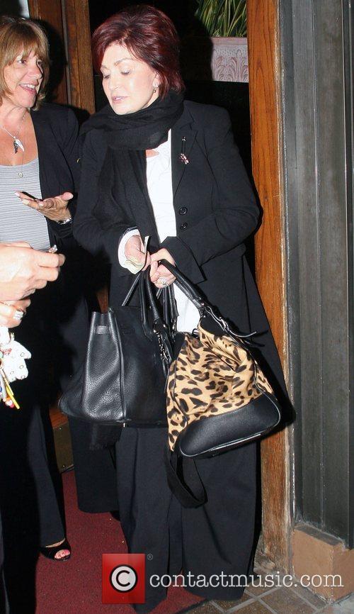 Sharon Osbourne leaving Madeos restaurant in West Hollywood...