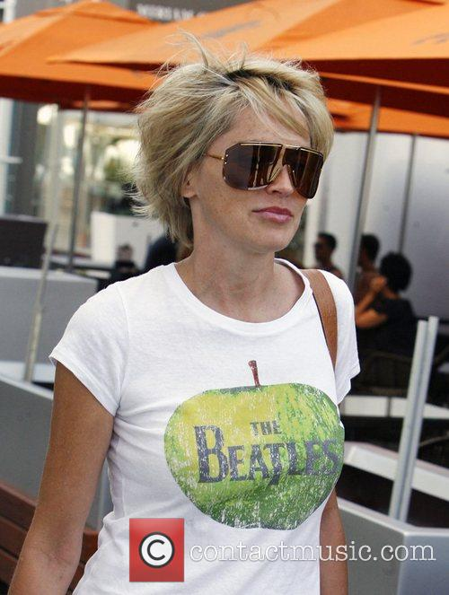 Sharon Stone spotted wearing a Beatles t-shirt in...