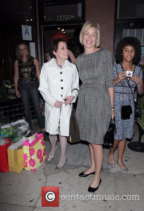 Sharon Stone attends a reception party at Chado...