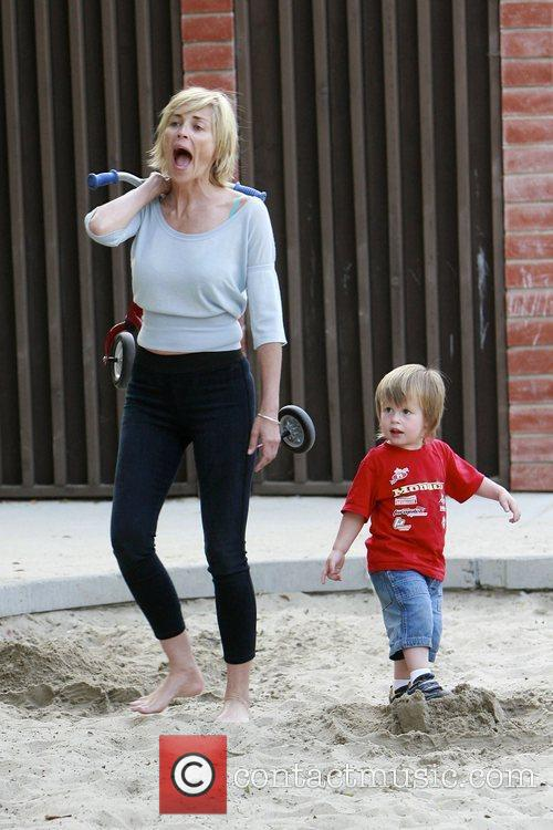 Sharon Stone  enjoying a day out at...
