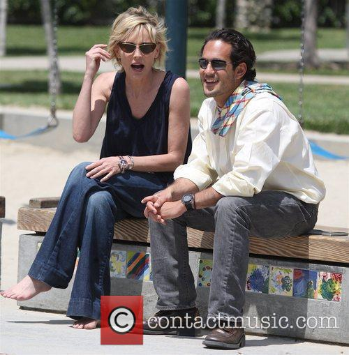 Sharon Stone and a friend spend time with...