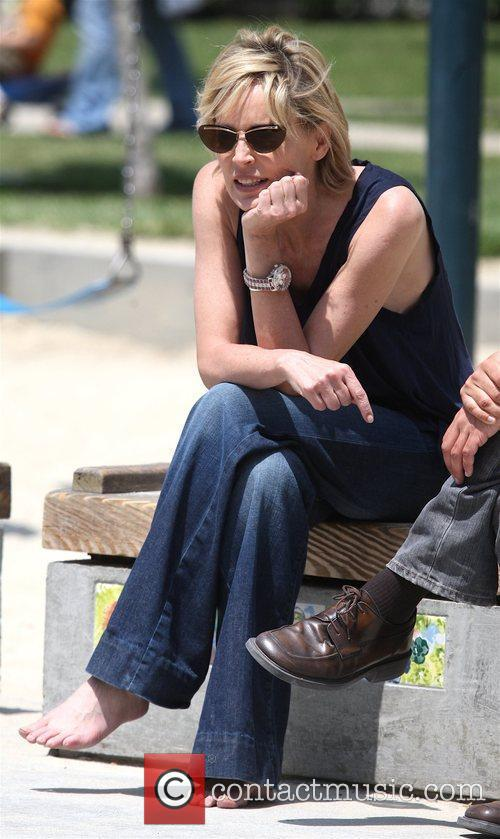 Sharon Stone spends a day at Coldwater Canyon...