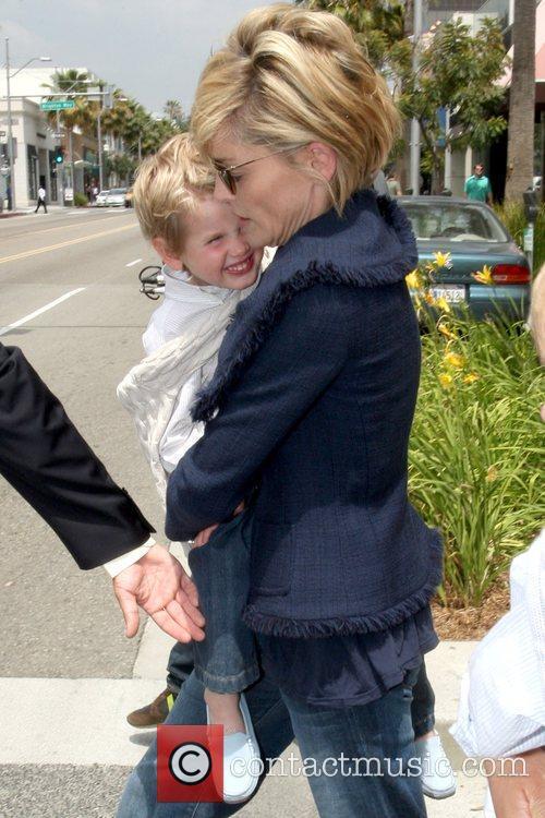 Sharon Stone and son Roan Bronstein Sharon Stone...