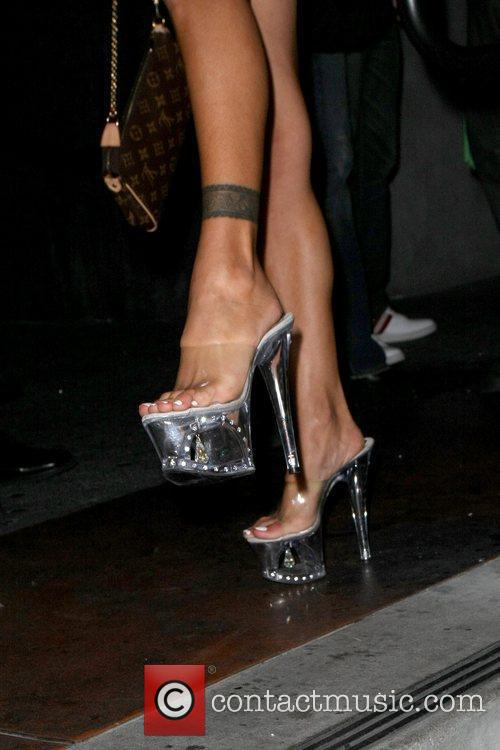 Former Playboy model Shauna Sand out in Hollywood...