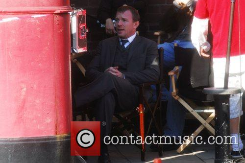 Guy Ritchie On the set for 'Sherlock Holmes'...