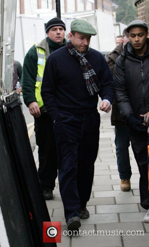 Guy Ritchie on set of his new movie...