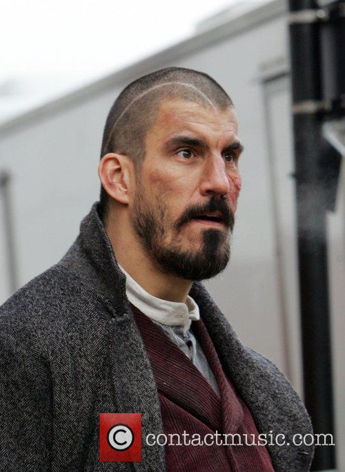 Robert Maillet on set of his new movie...
