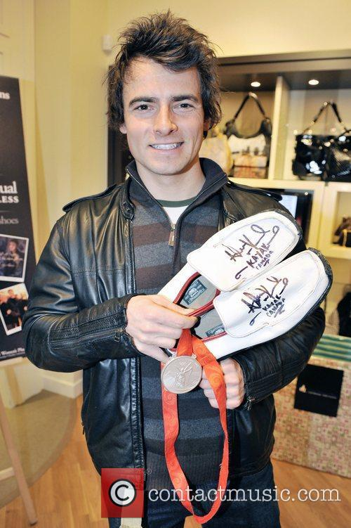 Canadian Olympic Gold Medalist donates his shoes worn...