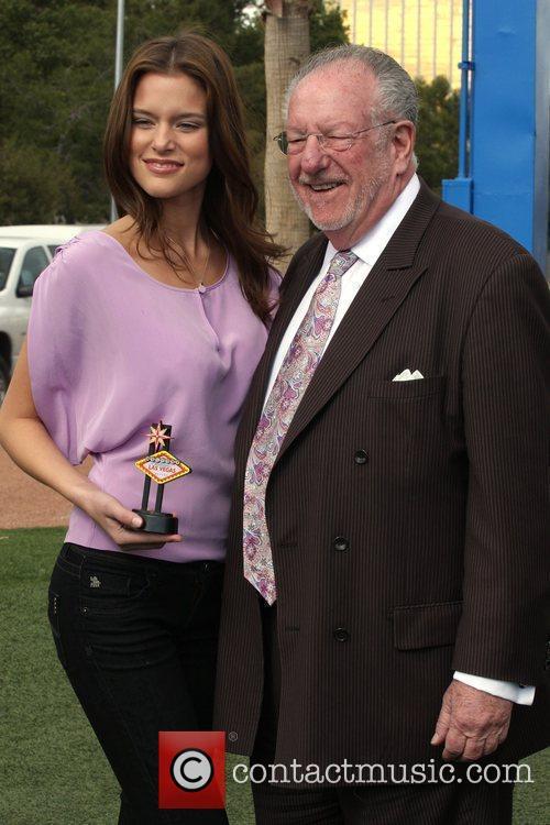 Kim Cloutier and Las Vegas Mayor Oscar Goodman...