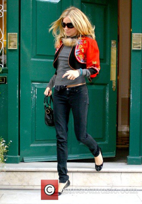 Sienna Miller leaving a doctor's surgery London, England