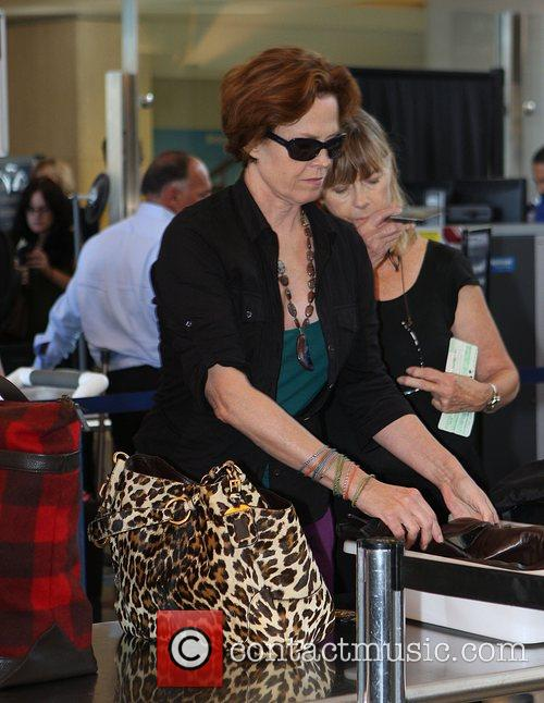 Sigourney Weaver, One Day Before Her 59th Birthday and Arrives At Lax Airport For A Flight To New York 2